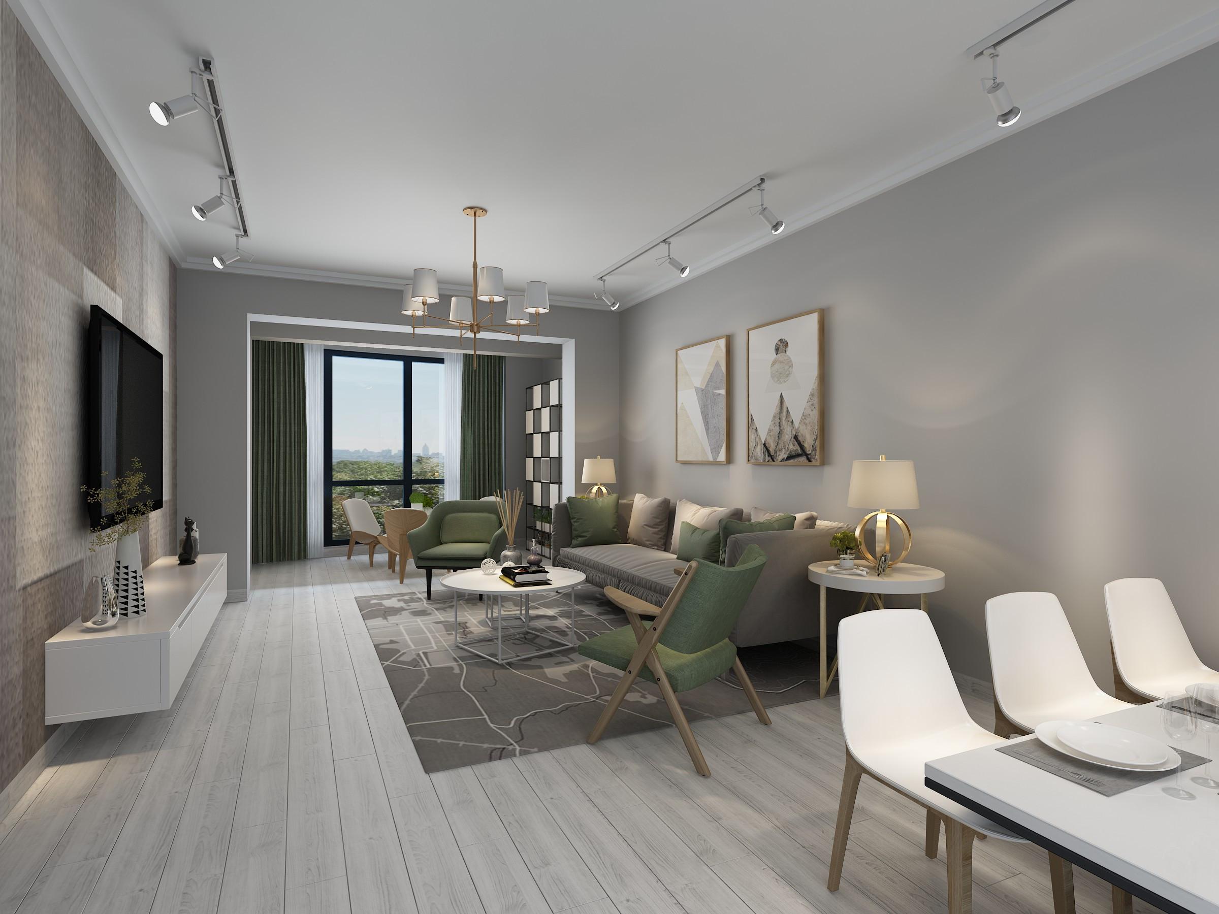 用现代设计打造诗意生活119平现代三居室
