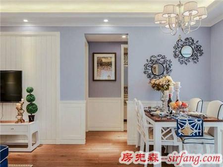93平简约,客厅背景墙凹凸造型亮了!