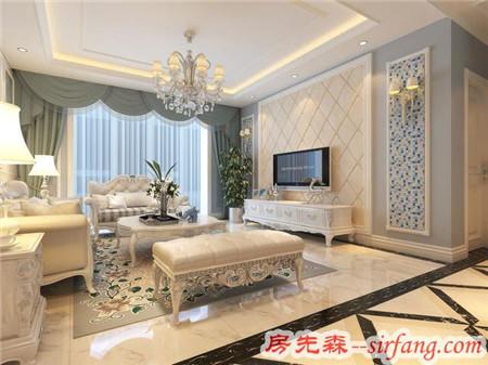 昆明海伦国际120平米现代简约装修风格给您一个宽敞明亮的家