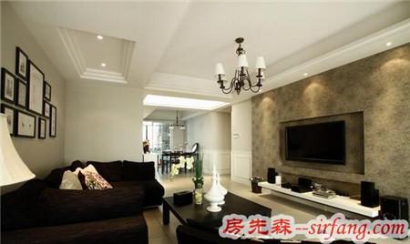 肇庆恒裕海湾108平美式三居房装修装饰案例