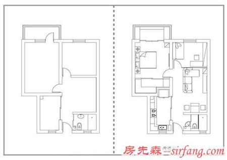 70平小户型旧房改造,餐厅最厉害,一张桌子变出三种空间!