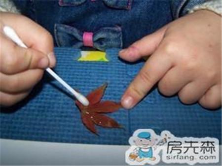 用树叶做金鱼 哄孩子必备技能