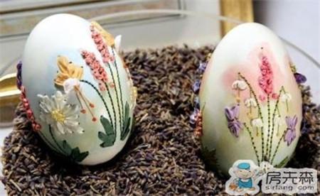 蛋壳上刺绣 要不要这么有创意