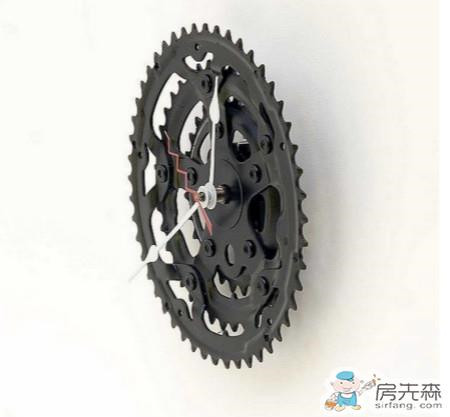 自行车零件改造钟表 太有个性了