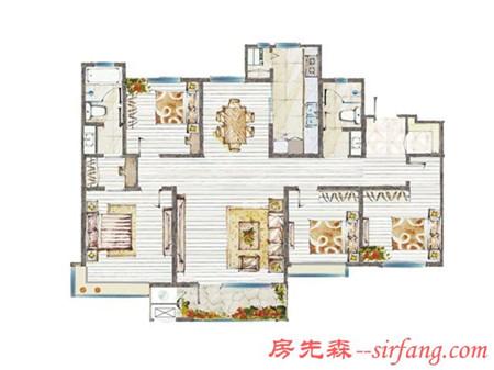 半包15万装修四室两厅·美式房子 配上软装搭配真是美开眼了