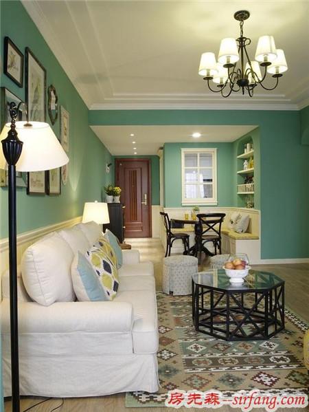 98㎡混搭美式两居室,卡座餐厅和榻榻米阳台惊艳四座!