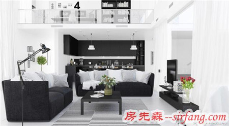 最经典的家具,你看见黑色和白色(灰色)的颜色了吗?